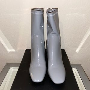 NWT. Missguided. Light Gray Fashion Boots
